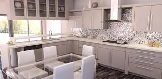 modern kitchen with luxury appliances black white cabinets island