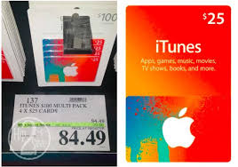 costco four 25 itunes gift cards possibly only 84 49 hip2save