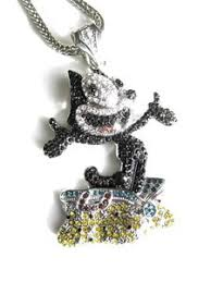 custom pendant felix the cat custom iced out pendant w free 36 chain the black bat