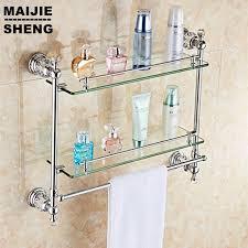 Bathroom Shower Organizers Chrome Bathroom Shower Glass Shelf Bath Shower Shelf