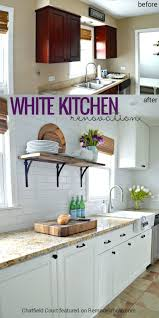 kitchen remodel white cabinets remodelaholic diy plank ceiling in a beautiful white kitchen