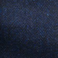 Inky Blue Harris Tweed Inky Blue Spruce London