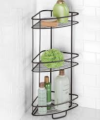 axis three tier shower shelf shelves bathroom organization and
