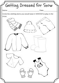 winter weather wear preschool worksheet u2013 what would you wear on a