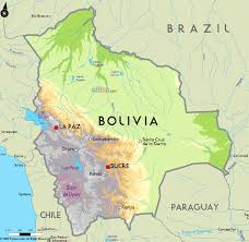 Geographical Map Of South America Large Physical Map Of Bolivia With Major Cities Bolivia South