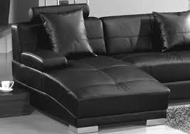 3334 ultra modern black leather sectional sofa