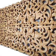 size bed carving wall panel siam sawadee