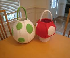 halloween baskets yoshi egg and super mushroom baskets 5 steps with pictures