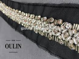 pearl lace 2017 hot selling bead pearl lace fabric trim pearl lace trim pearl
