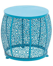 teal accent table blue metal accent table everything turquoise