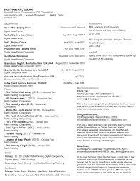 Vfx Jobs Resume by Resume Pan U0027s Vfx