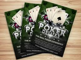 poker magazine ad flyer template by christos andronicou dribbble