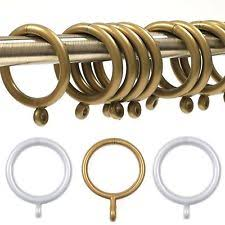 Large Drapery Rings Curtain Pole Hooks Ebay