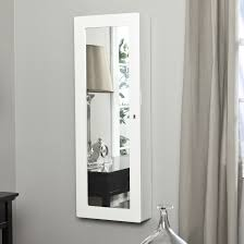 Jewelry Box Mirrored Armoire Remarkable Wall Mount Jewelry Box White With Mirror Popular Home