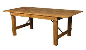 Wooden Table L 40 W X 108 L Premier Series Wood Folding Farm Table