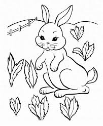 thumper holding flowers bunny colouring happy