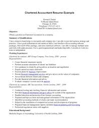 Resume Examples Accounting Jobs by Chartered Accountant Resume Sample Resume For Your Job Application