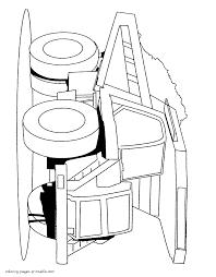 a dumper coloring page