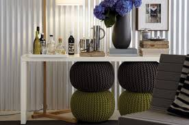 my place i want one or two knitted poufs at home with kim vallee