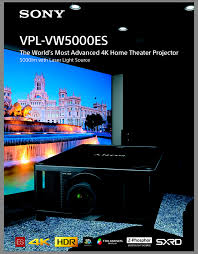 laser home theater projector sony vpl vw5000es 4k 3d laser projector review