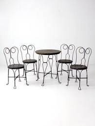 Black Metal Bistro Chairs Freshly Painted Ice Cream Parlor Table And Chairs Outdoor Living