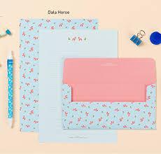 the magic notebook writing paper ardium animal letter set pink