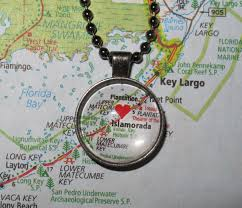 Ruskin Florida Map by Love On The Spot Customized Map Jewelry Souvenir Pendants