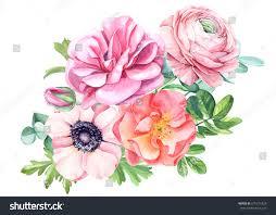 Beautiful Flowers Image Wedding Bouquet Beautiful Flowers Roses Anemones Stock