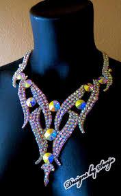 swarovski crystals necklace design images 110 best ballroom jewelry swarovski crystal necklaces images on jpg