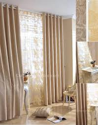 elegant curtains and drapes in camel color with printing images
