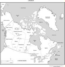 Map Of Canada Provinces Maps Of The Americas