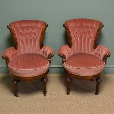 Old Fashioned Bedroom Chairs by Stunning Pair Of Victorian Figured Walnut Antique Bedroom Side