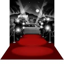 Hollywood Backdrop Paparazzi Hollywood B U0026w With Red Carpet Floor Photo Backdrops