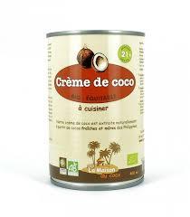 a cuisiner crème de coco bio à cuisiner 400 ml la maison du coco