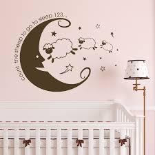 stickers mouton chambre bébé nouveau enfants compter les moutons chambre wall sticker vinyle