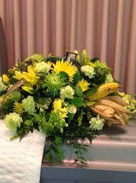 Arrangments by Funeral Arrangement With John Deere Tractor And Corn In It Green