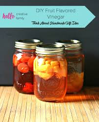 diy fruit flavored vinegar think ahead handmade gift ideas series