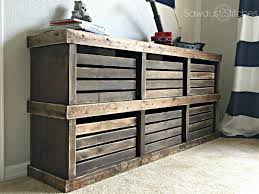 Pottery Barn Inspired Furniture Pottery Barn Inspired Crate Dresser Sawdust 2 Stitches
