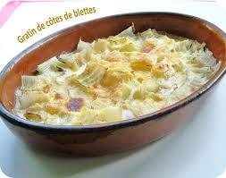 cuisiner des cotes de blettes gratin de côtes de blettes cuisine et dépendances