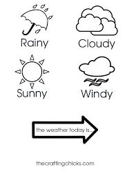 weather chart kid craft weather charts kid crafts and charts