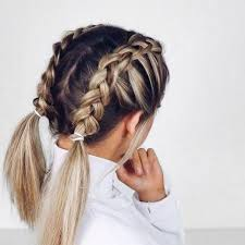 easy hairstyles for school trip braid color combo inspiration for summer hair style hair makeup