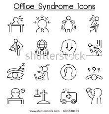 bureau 駘ectrique office staff health care icon 库存矢量图603638135