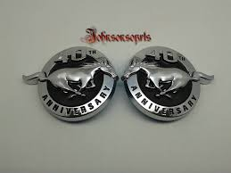 mustang gt decals and emblems 2pcs 1pair abs mustang 40th anniversary fender emblem set pair
