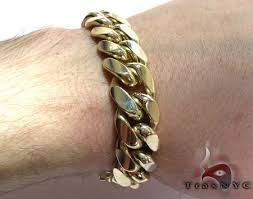 cuban link bracelet gold images Miami cuban link bracelet 9 inches 15mm 147 4 grams gold mens jpeg