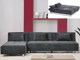 canapé convertible microfibre canape microfibre gris maison design wiblia com