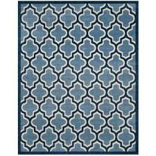 Navy And White Outdoor Rug 8 X 10 Outdoor Rugs Rugs The Home Depot