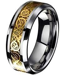 celtic mens wedding bands king will 8mm gold celtic tungsten carbide mens