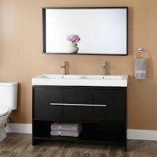 double sink modern vanity signature hardware