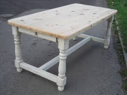6ft pine painted thick top refectory style kitchen table 6ft pine painted thick top refectory style kitchen table