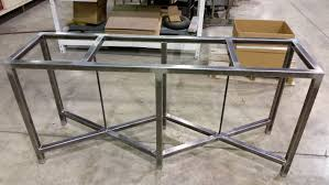 Steel Console Table In The Shop Reclaimed Oak Console Tables With Metal Base